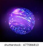 disco ball isolated... | Shutterstock .eps vector #677086813