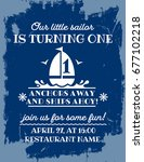 nautical sailor theme printable ... | Shutterstock .eps vector #677102218
