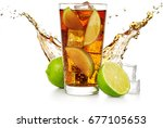 cuba libre with flowing wave ... | Shutterstock . vector #677105653