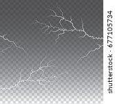 lightening and thunder bolt or ... | Shutterstock .eps vector #677105734