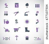 garden icons | Shutterstock .eps vector #677107504