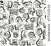 back to school. seamless... | Shutterstock .eps vector #677113114