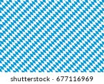 Oktoberfest Background - Vector Seamless Bavarian Flag Pattern