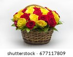 Bouquet Of Red And Yellow Rose...