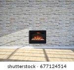 modern bright living room...   Shutterstock . vector #677124514
