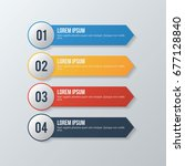 colored option banners... | Shutterstock .eps vector #677128840