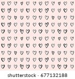 doodle heart vector pattern.... | Shutterstock .eps vector #677132188