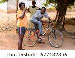 bubaque  guinea bissau   may 5  ... | Shutterstock . vector #677132356