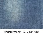 blue jeans texture.use for... | Shutterstock . vector #677134780