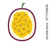 passion fruit design juicy... | Shutterstock .eps vector #677134828