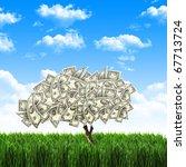 Tree Of Dollar Bills On The...