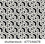seamless sacred geometry... | Shutterstock .eps vector #677146678