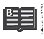book black vector silhouette on ... | Shutterstock .eps vector #677170924