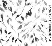 watercolor bud repeat pattern.... | Shutterstock . vector #677178994