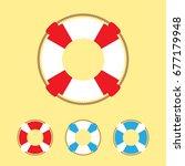 lifebuoy illustration   set of...   Shutterstock .eps vector #677179948