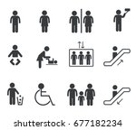 signs of people and objects | Shutterstock .eps vector #677182234