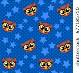 Cute Vector Owl And Stars...