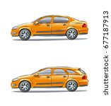 set of vehicles with different... | Shutterstock . vector #677187913