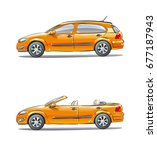 set of vehicles  different car...   Shutterstock . vector #677187943