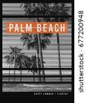 photo print florida beach...   Shutterstock . vector #677200948
