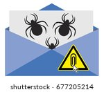 caution with email attachment.... | Shutterstock . vector #677205214