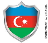 a shield illustration with the... | Shutterstock .eps vector #677216986