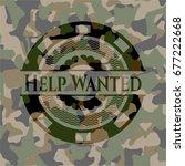 help wanted camo emblem   Shutterstock .eps vector #677222668