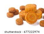 mid autumn festival mooncake... | Shutterstock . vector #677222974