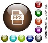 eps file format white icons on... | Shutterstock .eps vector #677224456