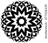 abstract vector black and white ... | Shutterstock .eps vector #677226139