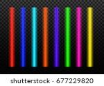 laser beams vector  set...