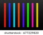 laser beams vector  set... | Shutterstock .eps vector #677229820