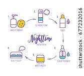 vector line art night time... | Shutterstock .eps vector #677232016