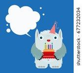 cheerful child illustration ... | Shutterstock .eps vector #677232034