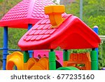 on the playground | Shutterstock . vector #677235160