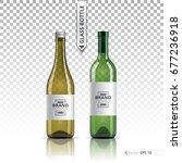 white wine and brandy or liquor ... | Shutterstock .eps vector #677236918