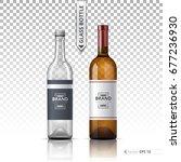 wine and vodka bottles isolated ... | Shutterstock .eps vector #677236930