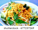 boiled rice noodles with... | Shutterstock . vector #677237269