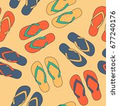 Summer Shoes Vector Seamless...