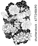 doodle and zentangle style... | Shutterstock .eps vector #677248690