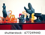 objects photopolymer printed on ... | Shutterstock . vector #677249440