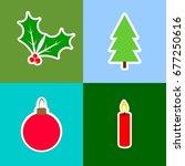 set christmas icons  isolated...