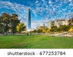 santiago  region metropolitana  ... | Shutterstock . vector #677253784
