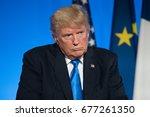 paris  france   july 13  2017   ... | Shutterstock . vector #677261350