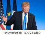 paris  france   july 13  2017   ...   Shutterstock . vector #677261380