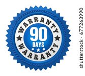 90 days warranty badge isolated....   Shutterstock . vector #677263990