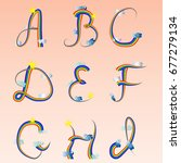 english alphabet  the first... | Shutterstock .eps vector #677279134