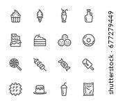 sweet dessert  sugar cause of... | Shutterstock .eps vector #677279449