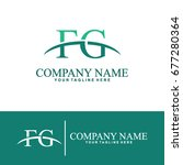 business of f and g initial... | Shutterstock .eps vector #677280364