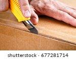 unboxing  | Shutterstock . vector #677281714